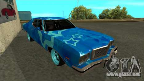 Ford Gran Torino Drift Blue Star para GTA San Andreas left
