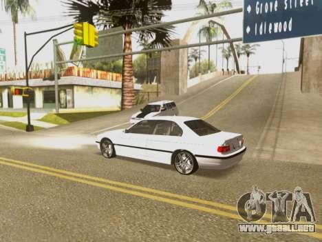 BMW 750i para vista inferior GTA San Andreas