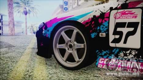 Nissan Silvia S15 Itasha Beta para GTA San Andreas vista posterior izquierda