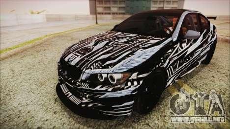 BMW M3 GTS 2011 IVF para las ruedas de GTA San Andreas