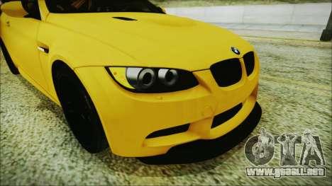 BMW M3 GTS 2011 IVF para GTA San Andreas vista hacia atrás