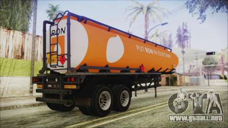 GTA 5 RON Tanker Trailer para GTA San Andreas left