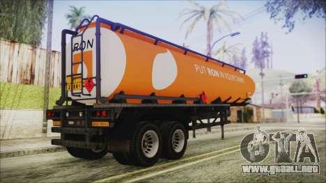 GTA 5 RON Tanker Trailer para GTA San Andreas left