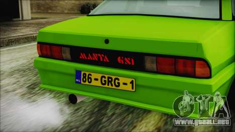 Opel Manta New Kids HQ para GTA San Andreas vista hacia atrás