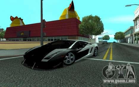 Lamborghini Gallardo Tunable para vista lateral GTA San Andreas
