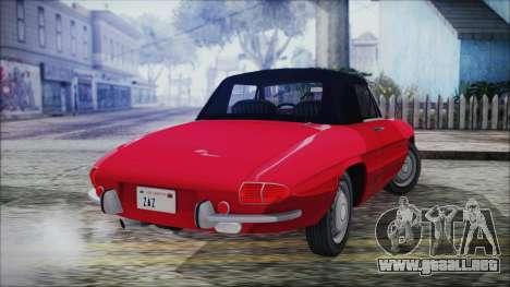 Alfa Romeo Spider Duetto 1966 para GTA San Andreas left