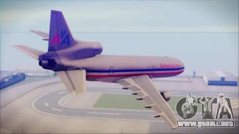 Lockheed L-1011 Tristar American Airlines para GTA San Andreas left