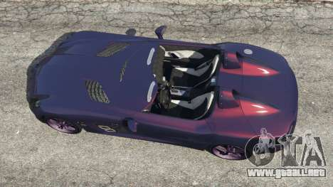 GTA 5 Mercedes-Benz SLR McLaren Stirling Moss vista trasera
