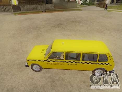 VAZ 2131 7-Puerta del Taxi para GTA San Andreas vista posterior izquierda