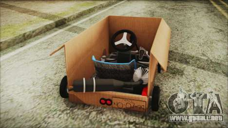 Kart-Box para GTA San Andreas vista posterior izquierda