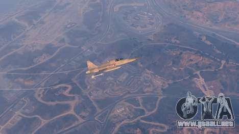GTA 5 Northrop F-5E Tiger II USA décima captura de pantalla