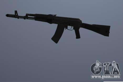 AK-74M para GTA San Andreas tercera pantalla