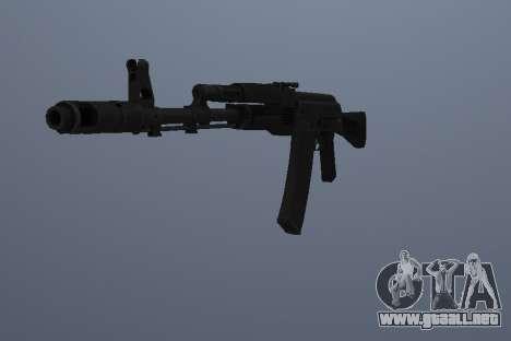 AK-74M para GTA San Andreas segunda pantalla