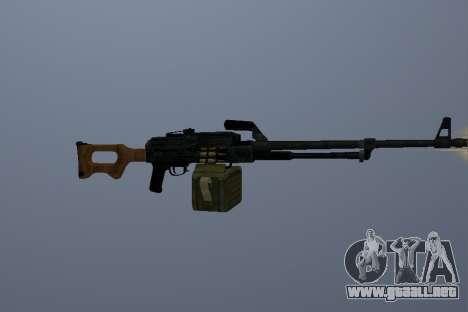 La Ametralladora Kalashnikov para GTA San Andreas