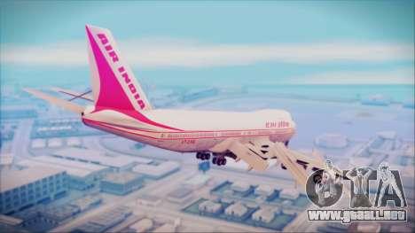 Boeing 747-237Bs Air India Himalaya para GTA San Andreas left