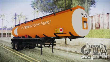 GTA 5 RON Tanker Trailer para GTA San Andreas