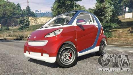GTA 5 Smart ForTwo 2012 v0.1 vista lateral derecha