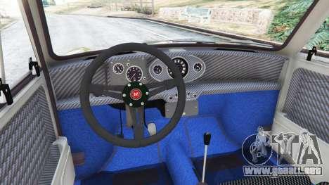 GTA 5 Mini Cooper S 1965 vista lateral trasera derecha