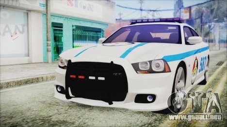 Dodge Charger SRT8 2012 Iraqi Police para GTA San Andreas
