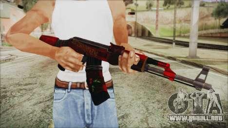 Xmas AK-47 para GTA San Andreas tercera pantalla
