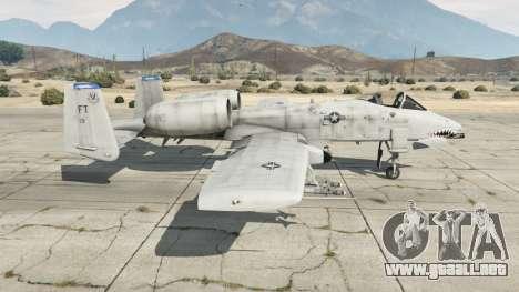 Fairchild Republic A-10A Thunderbolt II v1.2 para GTA 5