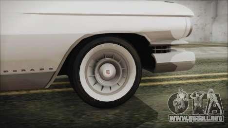 Cadillac Eldorado Biarritz 1959 para GTA San Andreas vista posterior izquierda