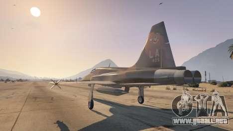 GTA 5 Northrop F-5E Tiger II USA tercera captura de pantalla