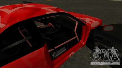 Nissan Silvia S14 Drift Red Star para vista inferior GTA San Andreas