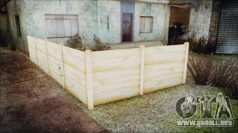 Wooden Fences HQ 1.2 para GTA San Andreas sucesivamente de pantalla