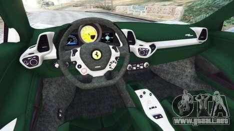 GTA 5 Ferrari 458 Spider 2012 vista lateral trasera derecha