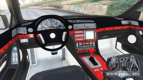 GTA 5 BMW L7 750iL (E38) vista lateral trasera derecha