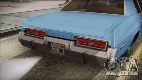 Dodge Monaco 1974 Civilian para la visión correcta GTA San Andreas