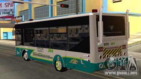 Lazcity Midibus Stylo Colombia para GTA San Andreas left