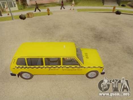 VAZ 2131 7-Puerta del Taxi para la visión correcta GTA San Andreas