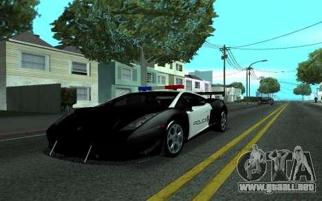 Lamborghini Gallardo Tunable para GTA San Andreas vista posterior izquierda