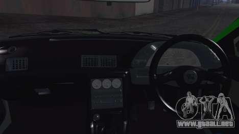 Nissan Skyline R32 Rocket Bunny para visión interna GTA San Andreas