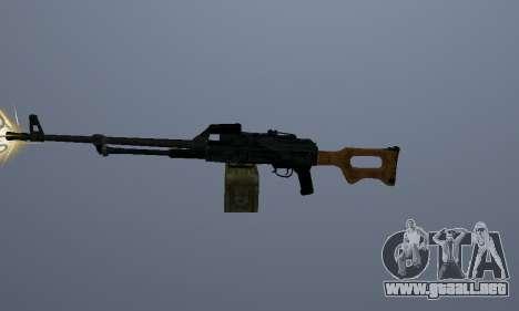 La Ametralladora Kalashnikov para GTA San Andreas segunda pantalla