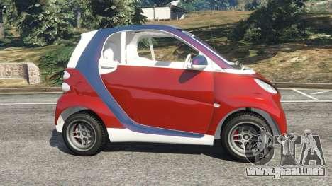 GTA 5 Smart ForTwo 2012 v0.1 vista lateral izquierda