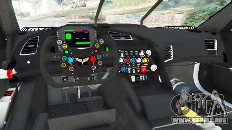 GTA 5 Chevrolet Corvette C7R vista lateral trasera derecha