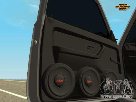 VAZ 2123 Niva automática de Sonido para GTA San Andreas vista hacia atrás
