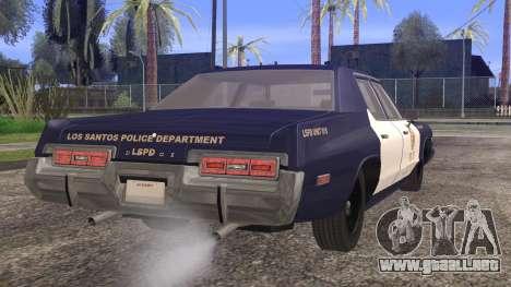 Dodge Monaco 1974 LSPD StickTop Version para GTA San Andreas left