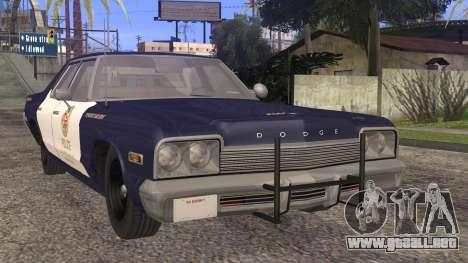 Dodge Monaco 1974 LSPD StickTop Version para GTA San Andreas