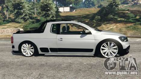 GTA 5 Volkswagen Saveiro G6 Cross vista lateral izquierda