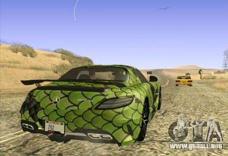 Mercedes-Benz SLS AMG Snake para GTA San Andreas vista posterior izquierda