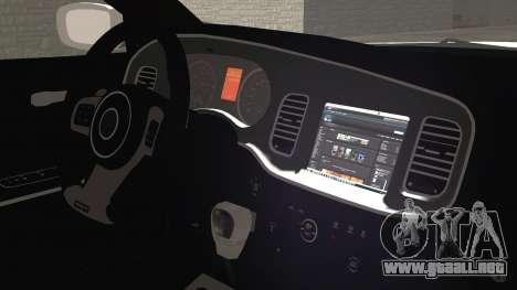 Dodge Charger SRT8 2012 Iraqi Police para la visión correcta GTA San Andreas