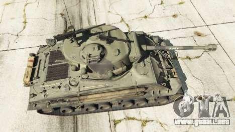 GTA 5 M4A3E8 Sherman Fury vista trasera