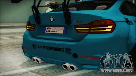 BMW M4 2014 Liberty Walk para visión interna GTA San Andreas