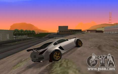 Nissan 350Z Rally para GTA San Andreas left