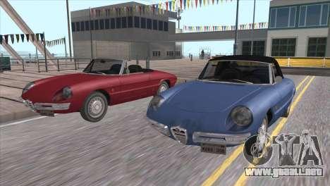 1966 Alfa Romeo Spider Duetto [IVF] para visión interna GTA San Andreas