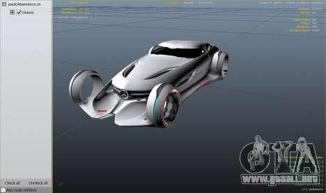 GTA 5 Mercedes-Benz Silver Lightning - Replace vista lateral trasera derecha